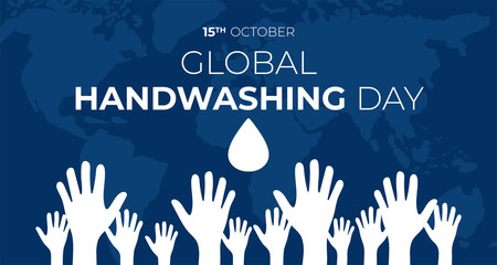 Global Handwashing Day Background Illustration
