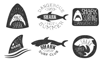 Set of logos for a diving club. Vector illustration on a white background.