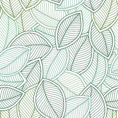 Beautiful spring leaves seamless pattern