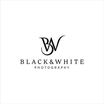 simple monogram form first letter B and W logo design inspiration