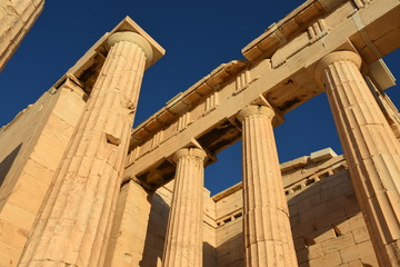 Acropolis of Athens temple in Athens in Greece