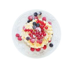 Dessert on a white background