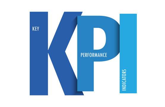 KPI colorful gradient typography banner