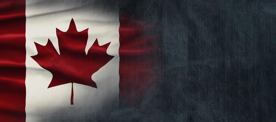 Canadian National Holiday. Canadian Flag background with maple leaf and national colors. Illustration