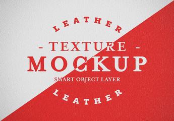 Leather Texture Mockup