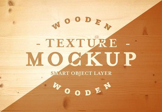 Wood Grain Texture Mockup