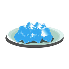 Ice Cubes on a Plate Vector