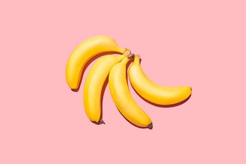 Bananas Studio Shot Against Pink Background