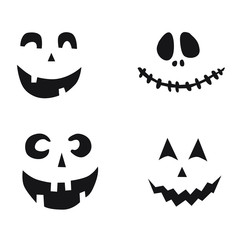 Halloween smile, face, vector illustration