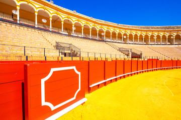 Bull fighting arena (Plaza de toros) in Sevilla