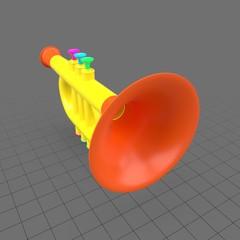 Plastic trumpet toy 2