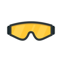 Safety glasses icon. Flat illustration of safety glasses vector icon for web design