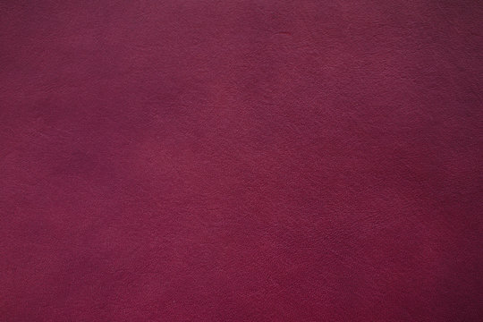 Real leather color Burgundy texture made from cow skin