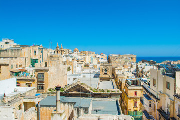 Poster Algérie Landscape of Valletta with old buildings