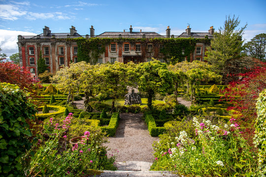 The garden of Bantry House, Ancient Mansion in  Co. Cork, Ireland