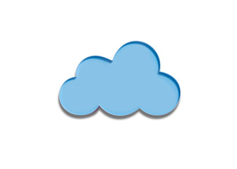 Cloud of plastic isolated on white background
