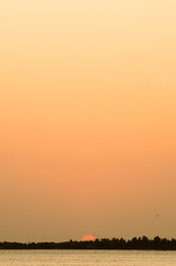 Amazing sunset in Golfo de Morrosquillo, Sucre