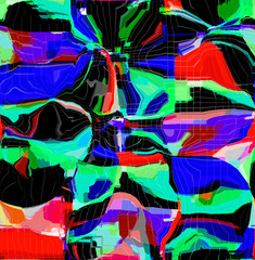 Foto op Canvas Paradijsvogel Abstract colored pattern. Digital art