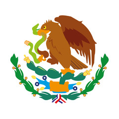 Isolated mexican eagle vector design
