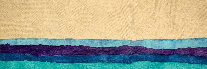 Printed kitchen splashbacks Beige abstract landscape - colorful textured paper sheets
