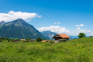Landscape with Mount Niesen in Aeschi bei Spiez