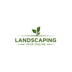 Simple Landscaping Logo Design Template