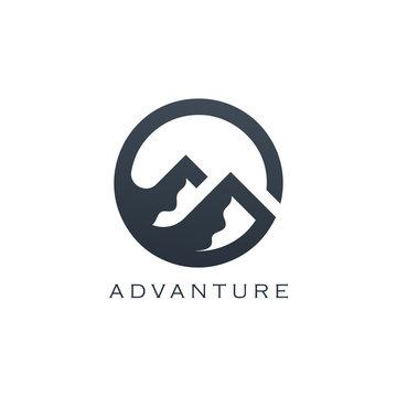 Mountain Vector Design. Modern mountain logo. Mountain icon.
