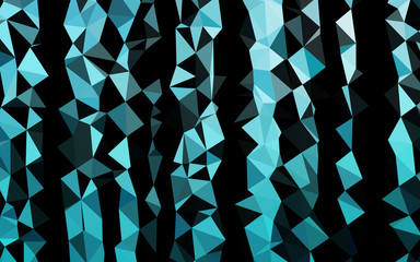 Light BLUE vector abstract mosaic pattern. Geometric illustration in Origami style with gradient. Brand new design for your business.
