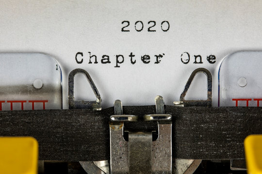 old typewriter with text  2020 chapter one