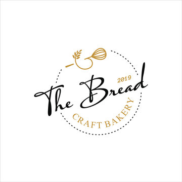 bakery logo  simple black badge concept organic homemade bread design inspiration