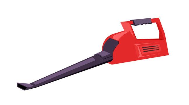 Leaf blower flat vector illustration