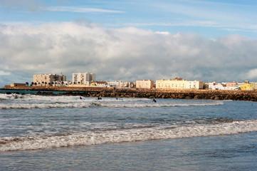 Stadt Cadiz vom Meer umschlossen, Andalusien