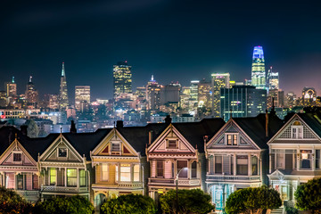 Painted Ladies at Night