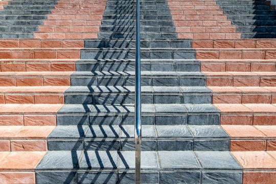 a symmetrical staircase