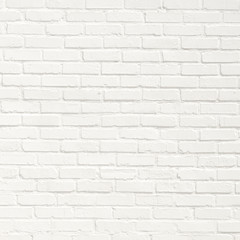 Spoed Foto op Canvas Baksteen muur White brick wall background. Neutral texture of a flat brick wall close-up.