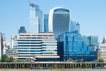 The City of London on a sunny summer day