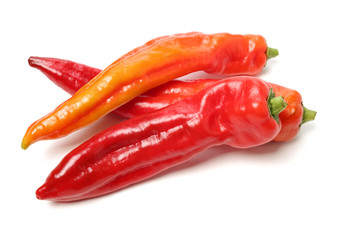 Canvas Prints Hot chili peppers Fresh red pepper on white background