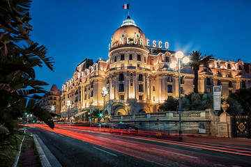 Le Negresco hotel in Nice city on the French Riviera
