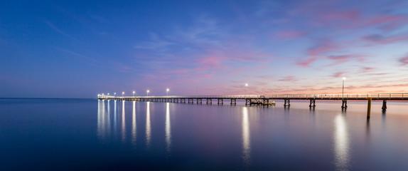 Busselton Jetty Western Australia at sunrise