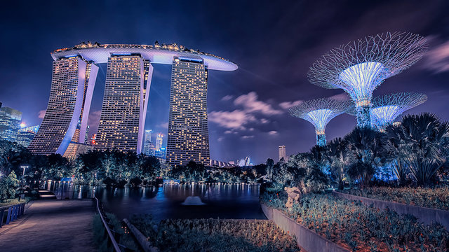 Marina Bay Sands luxury hotel in Singapore