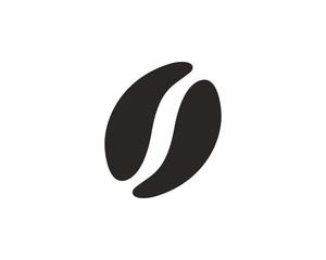 Coffee bean icon symbol vector