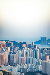 Wall Mural - Cityscape of downtown, Kowloon, Hong Kong