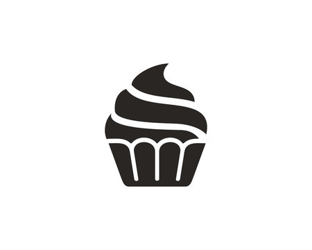 Cupcake icon symbol vector