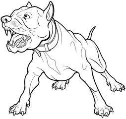 Foto op Canvas Sprookjeswereld Barking Dog