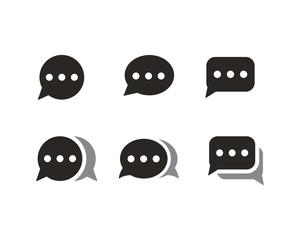 Chat icon set symbol vector