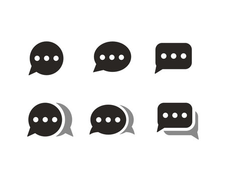 Chat icon set symbol vector