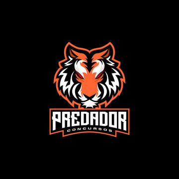 tiger head e sports logo design gaming mascot