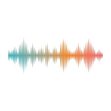 Sound waves vector illustration design