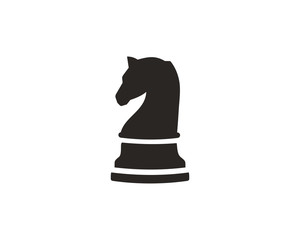 Chess knight icon symbol vector