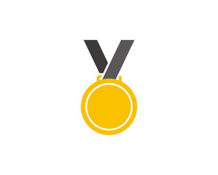 Gold medal icon symbol vector